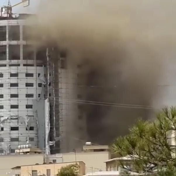 هتل مزاحمِ ارگ کریمخان آتش گرفت