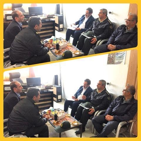 جلسه توسعه همکاری بین اداره میراث فرهنگی و پلیس پیشگیری شهرستان کامیاران برگزار گردید